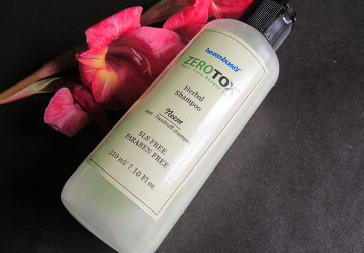 Healthbuddy Zerotox Shampoo Best Affordable Sulfate free Shampoos in India
