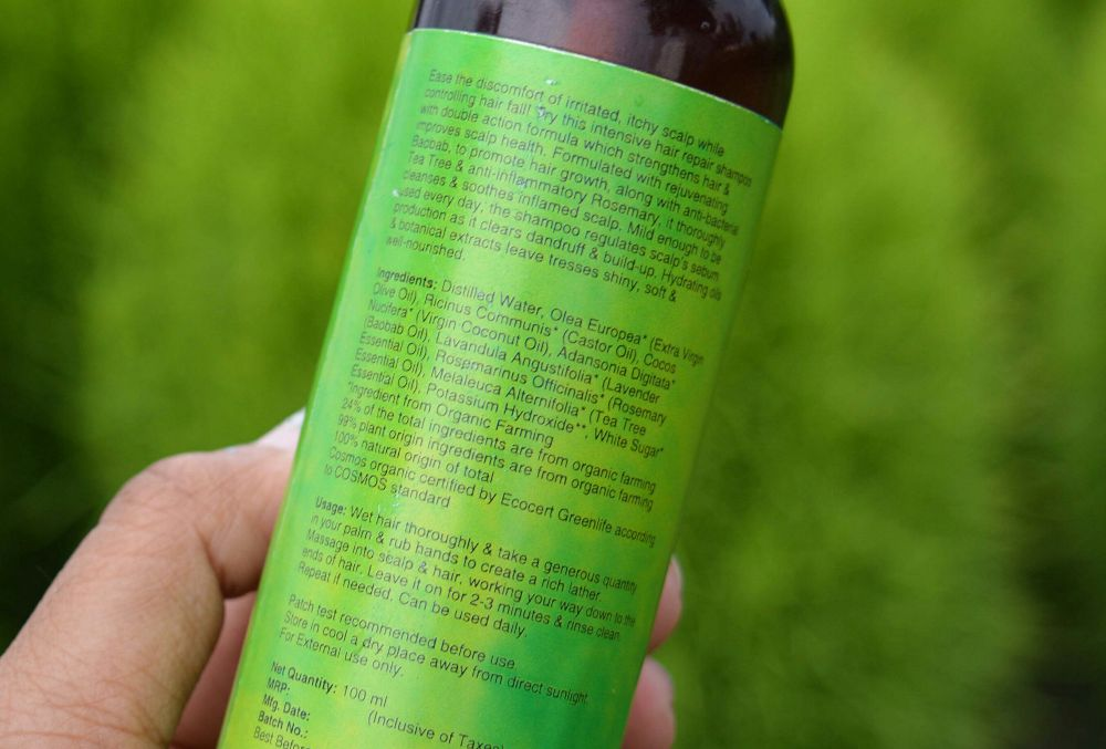 Juicy Chemistry Baobab, Rosemary, and Tea Tree Shampoo Ingredients