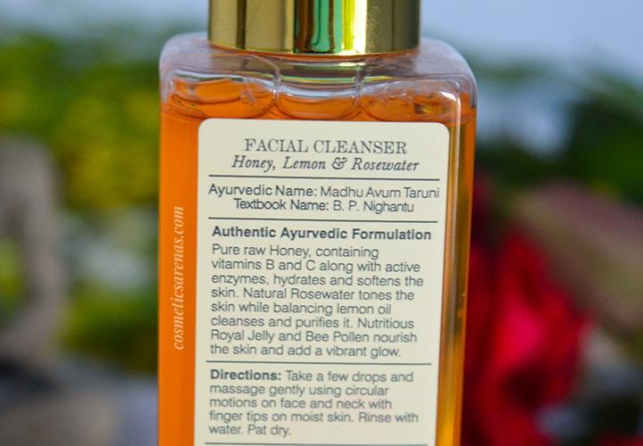 Forest Essentials Mashobra Honey, Lemon, and Rosewater Face Wash Information