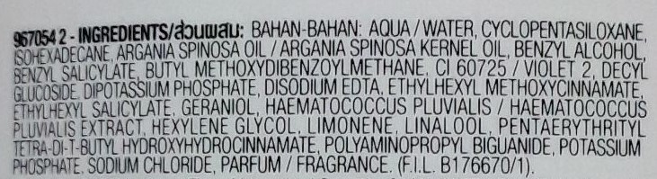 Garnier Micellar Oil Infused Cleansing Water Ingredients