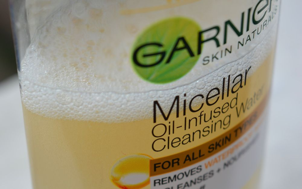 Garnier Micellar Oil Infused Cleansing Water Texture