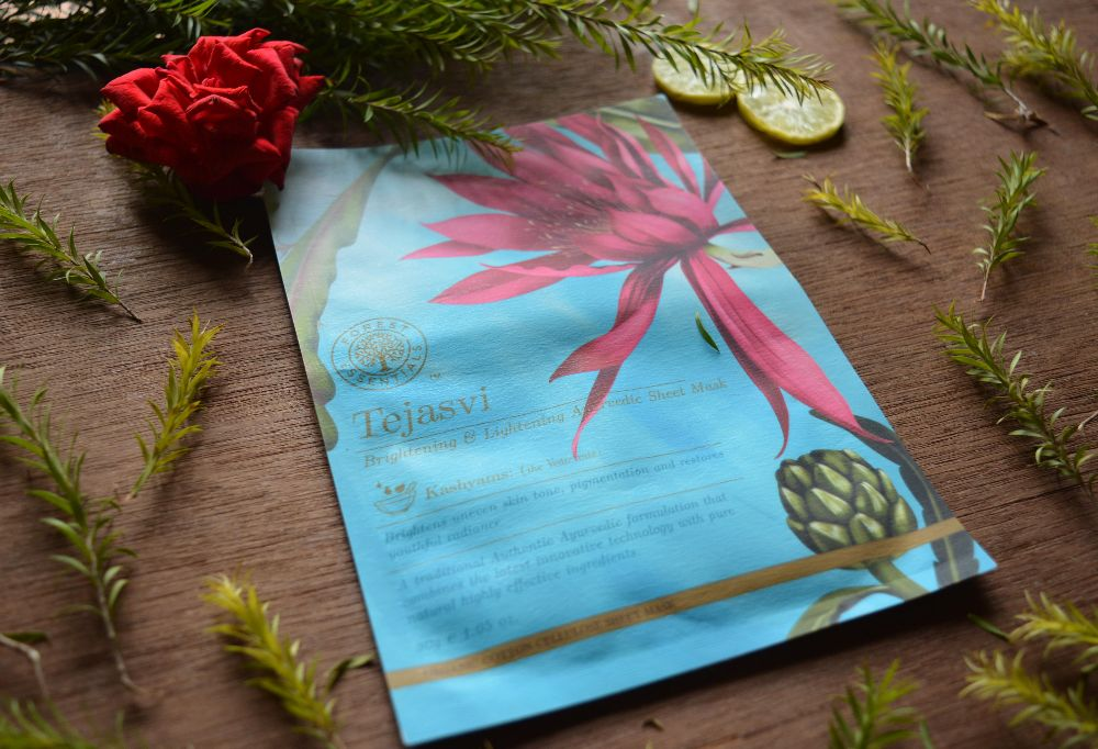 Forest Essentials Tejasvi Brightening and Lightening Ayurvedic Sheet Mask Review