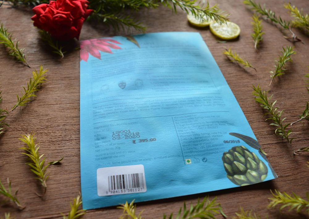 Forest Essentials Tejasvi Brightening Ayurvedic Sheet Mask Review