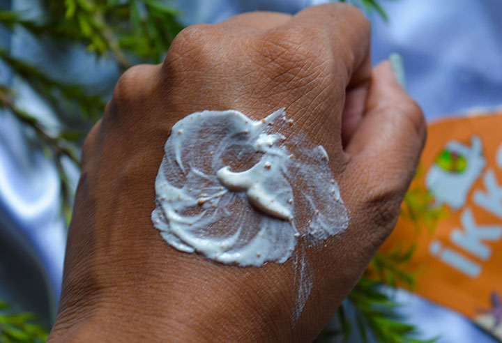 Ikkai by Lotus Herbals Almond Face Scrub Application