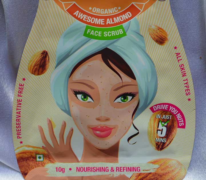 Ikkai by Lotus Herbals Almond Face Scrub Packaging