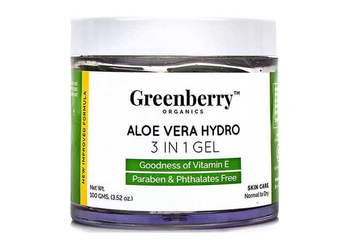 Best Aloe Vera Gels in India Greenberry Organics