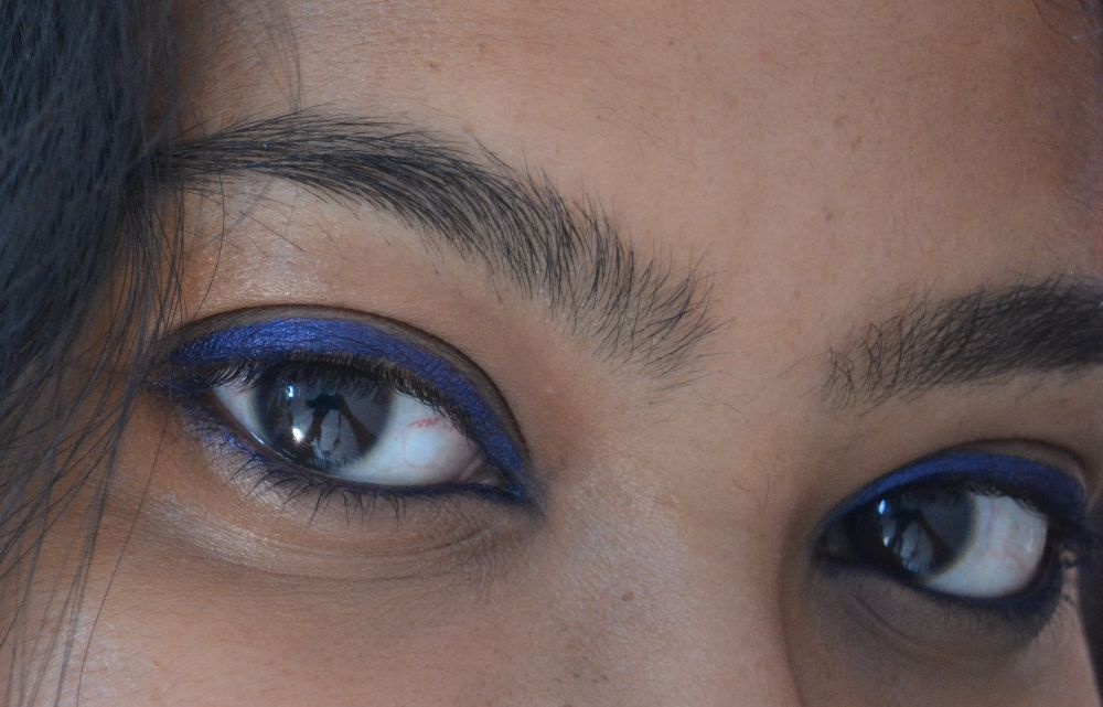 SUGAR Cosmetics Born to Wing Gel Eyeliner 02 Roadhouse Blues Swatch 1
