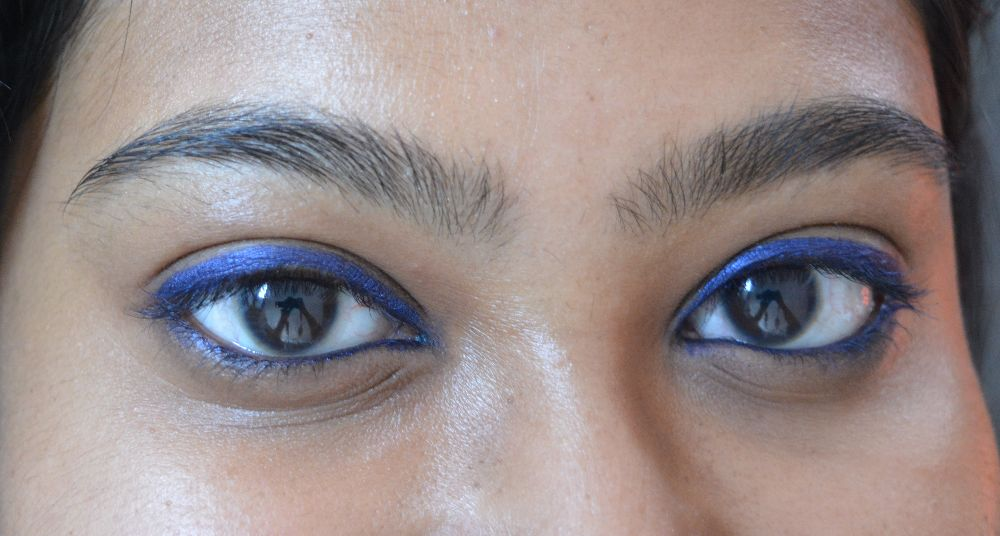 SUGAR Cosmetics Born to Wing Gel Eyeliner 02 Roadhouse Blues Swatch 2