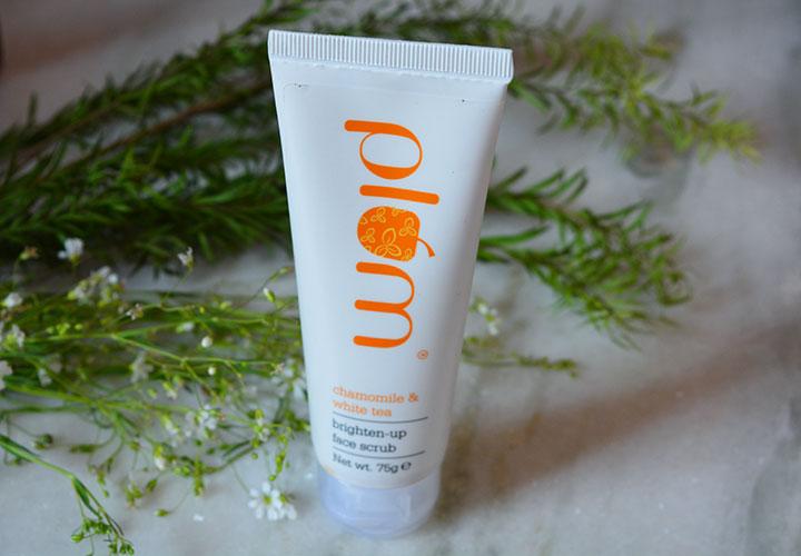 Plum Chamomile and White Tea Face Scrub Review