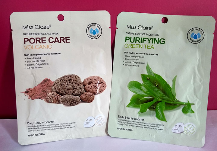 Miss Claire Nature Essence Face Masks Review