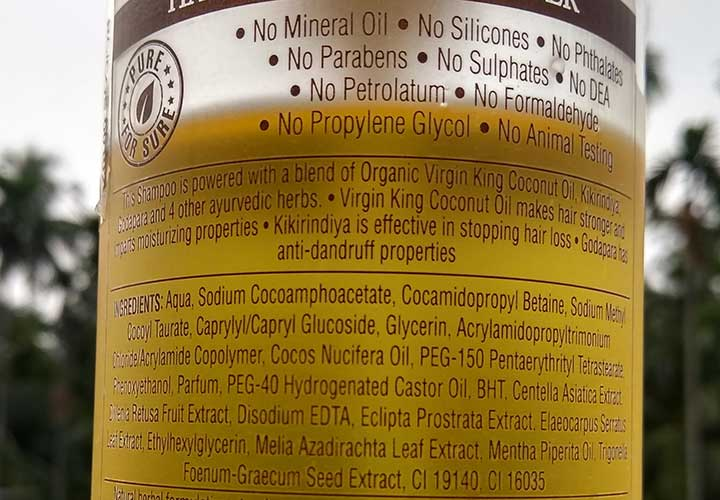 Coco Soul Hair and Scalp Cleanser Ingredients