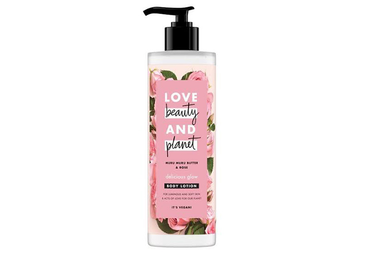 Best Body Lotions for Winter in India Love Beauty & Planet Murumuru Butter and Rose Aroma Delicious Glow Body Lotion