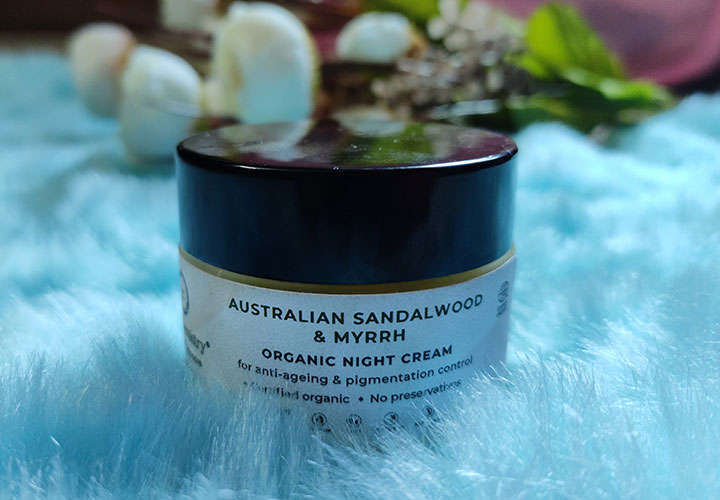 Juicy Chemistry Australian Sandalwood and Myrrh Organic Night Cream Review