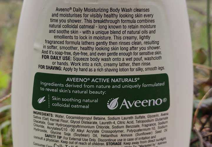 Aveeno Daily Moisturizing Body Wash Ingredients