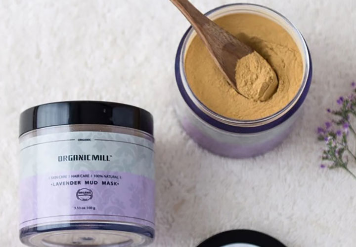 Best Chemical Free Face Masks in India Organic Mill Lavender Mud Mask