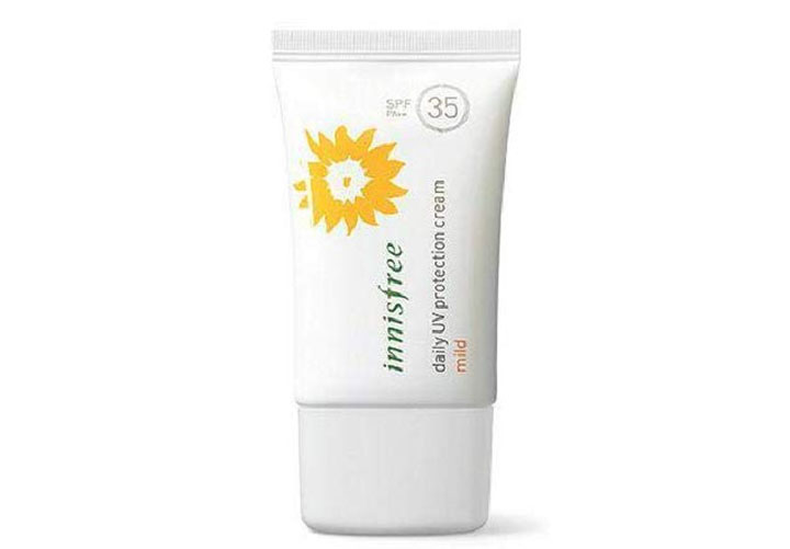 Top Sunscreens in India Innisfree Daily UV Protection Cream Mild SPF 35 PA++.jpg
