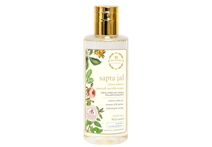 just herbs sapta jal micellar water best micellar waters in india