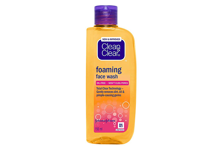 Clean & Clear Foaming Face Wash Best Face Wash in India under Rs.100