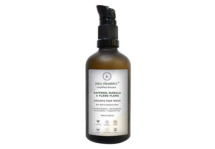 Juicy Chemistry Ylang Ylang Organic Face Wash Best Chemical Free Face Wash for Dry Skin in India