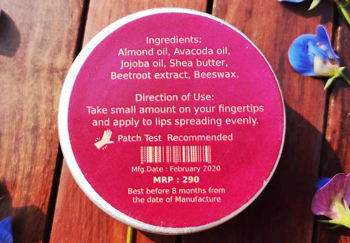 Deyga Beetroot Lip Balm Ingredients