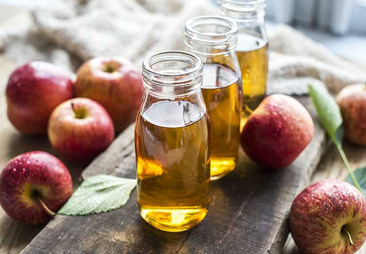 get rid of rashes with ACV