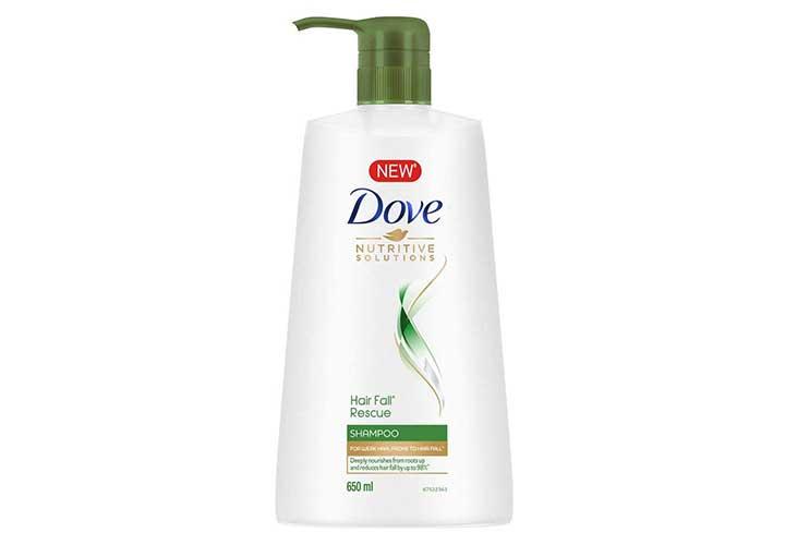 Best Affordable Anti Hair Fall Shampoos in India Dove Hair Fall Rescue Shampoo