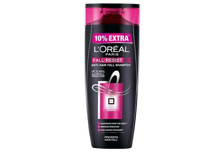 Best Anti Hair Fall Shampoos in India L'Oreal Paris Fall Repair 3X Anti-Hair Fall Shampoo