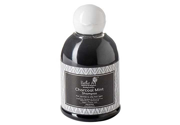 Best Anti Hair Fall Shampoos in India Rustic Art Charcoal Mint Shampoo