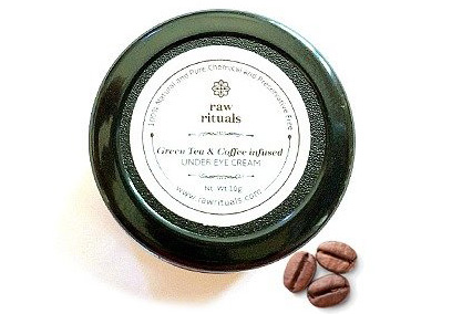 Raw Rituals Green Tea & Coffee Infused Under Eye Cream Best Under Eye Creams in India