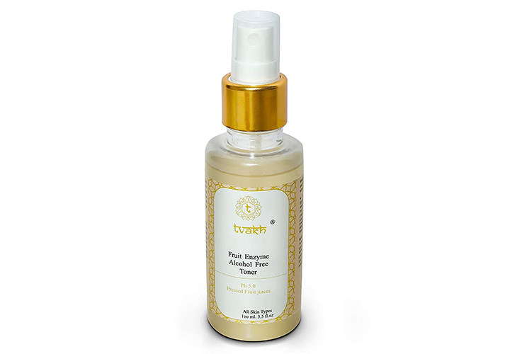 Tvakh Fruit Enzyme Alcohol Free Toner Best Toners in India that are Affordable, Harsh Chemical Free, and Alcohol Free