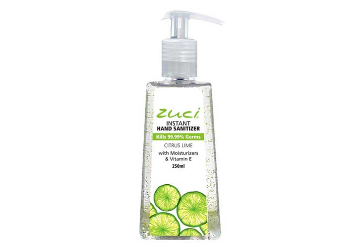 Zuci Citrus Lime Hand Sanitizer Best Hand Sanitizers with Alcohol in India