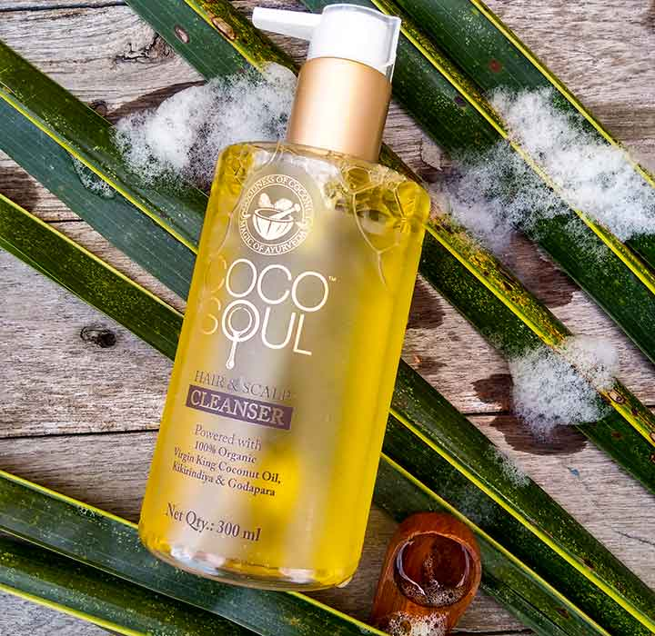 Coco Soul Hair and Scalp Cleanser Best Anti Hair Fall Shampoo in India