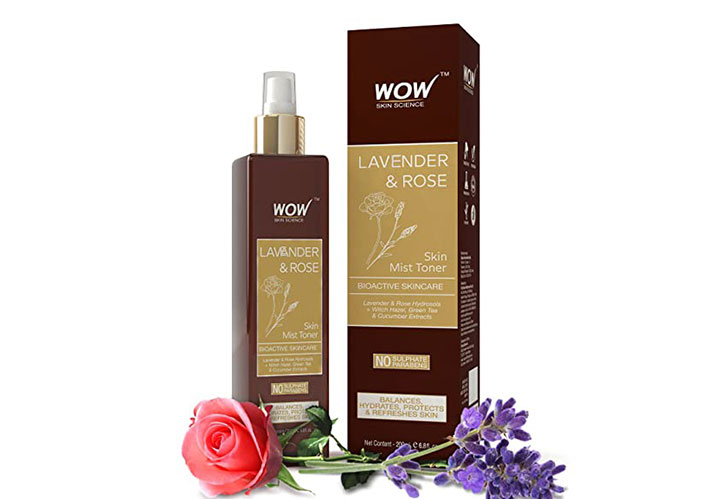 wow skin science lavender & rose skin mist toner Best Toners in India that are Affordable, Harsh Chemical Free, and Alcohol Free