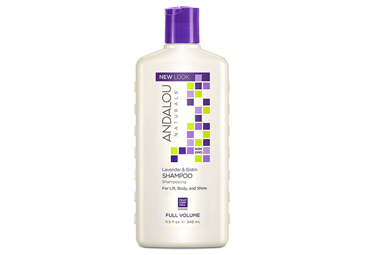 Andalou Naturals Lavender & Biotin Full Volume Shampoo for Hair Growth