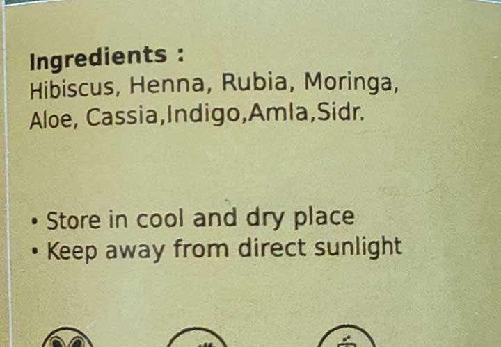 Deyga Herbal Hair Pack Ingredients