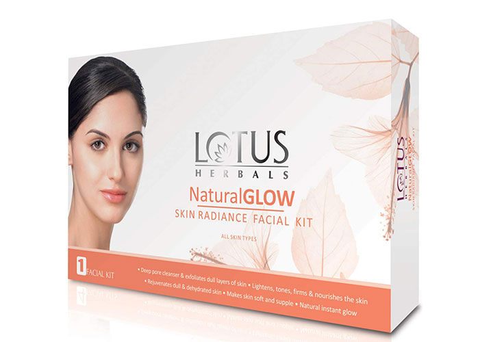 Lotus Herbals NaturalGlow Skin Radiance Facial Kit Best Facial Kits for Women in India