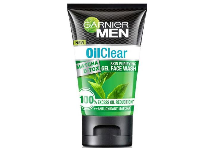 Garnier Men Oil Clear Matcha D-Tox Gel Face Wash Best Men Face Wash in India