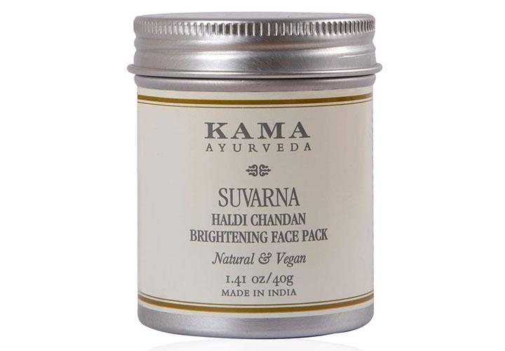 Kama Ayurveda Suvarna Haldi Chandan Face Pack Best Tan Removal Products in India