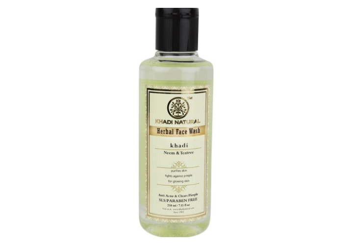 Khadi Natural Neem and Tea Tree Herbal Face Wash Best Affordable Face Wash for Men in India