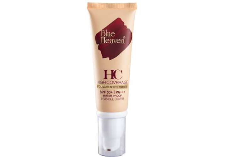 Blue Heaven High Coverage Foundation with Primer & SPF 50 PA+++ Best Foundations in India