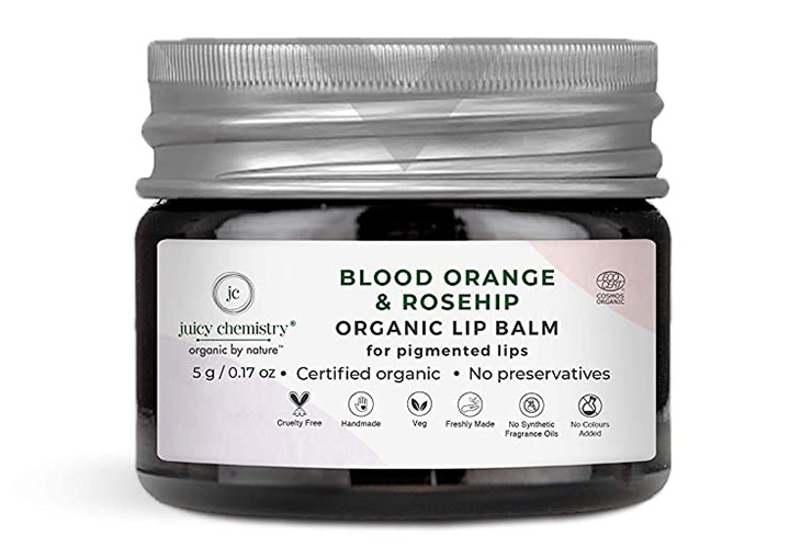Juicy Chemistry Blood Orange & Rosehip Lip Balm Best Organic Lip Balms in India