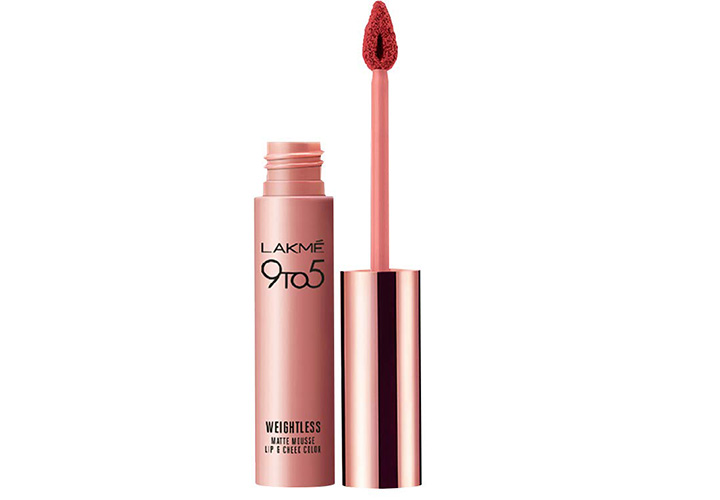 Lakme 9 to 5 Weightless Mousse Lip and Cheek Colour Best Lakme Mousse Lipsticks