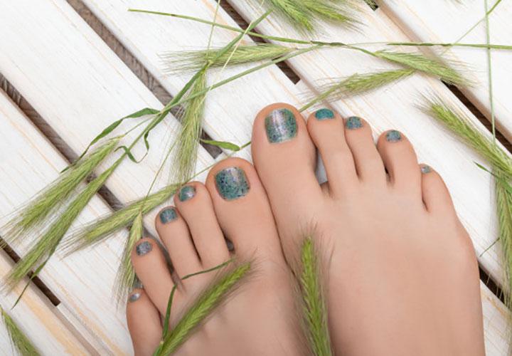Applying Nail Polish is Finishing Step in Foot Spa