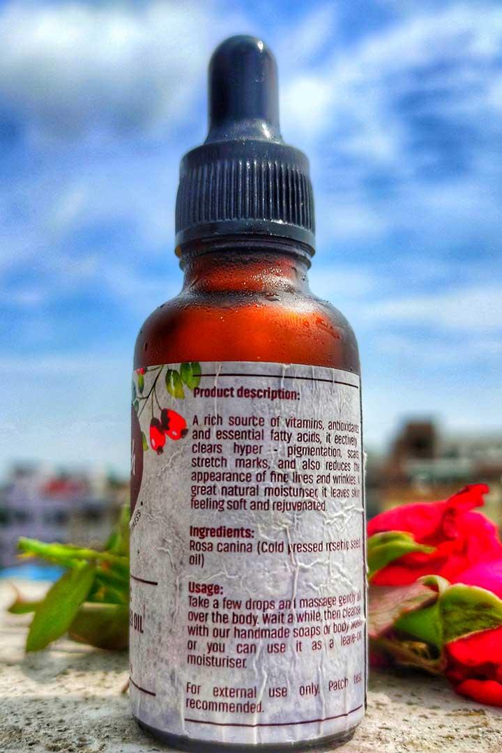 Vilvah Organic Rosehip Seed Oil Ingredients