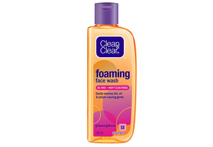 Clean & Clear Foaming Face Wash Best Face Wash for Women in India