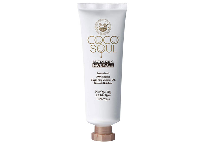Coco Soul Revitalizing Face Wash With Virgin King Coconut Oil Best Chemical Free Face Wash for Women in India