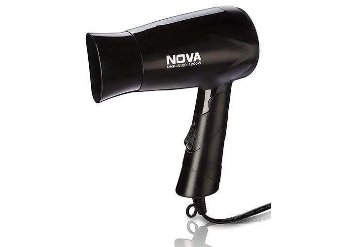 Nova Silky Shine 1200 W Hot And Cold Foldable NHP 8100 Hair Dryer Best Hair Dryer in India