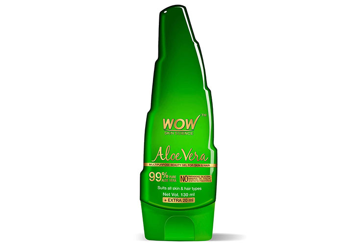 WOW Skin Science 99% Pure Aloe Vera Gel Best Moisturizer for Oily Skin in India