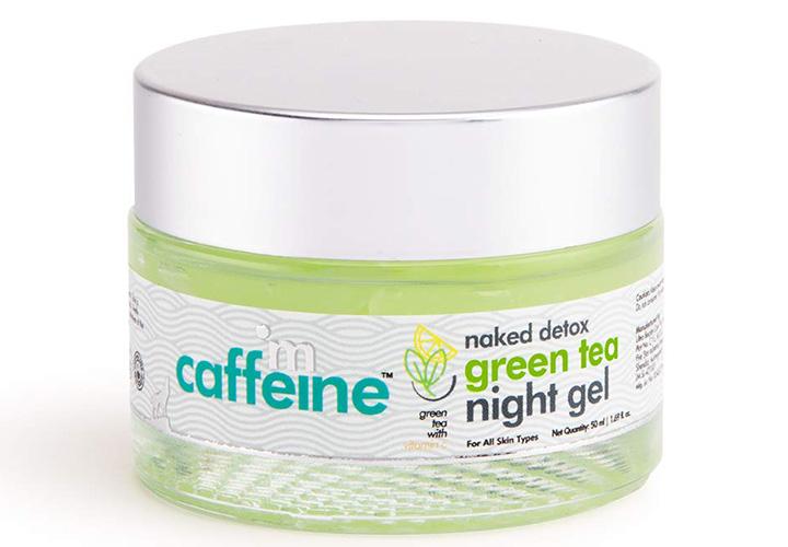 MCaffeine Naked Detox Green Tea Night Gel Best Night Cream in India