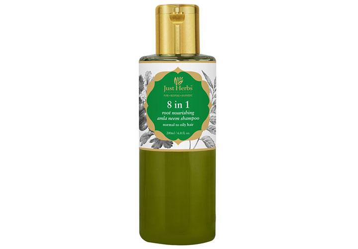 Just Herbs 8 in 1 Root Nourishing Amla Neem Shampoo Best Shampoo in India